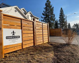 Custom Cedar Capped Craftsman Fence _ Cedar & Stone