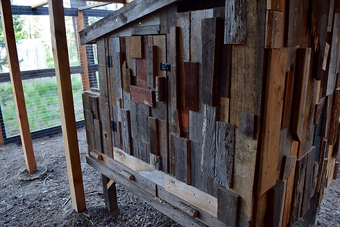 Hen House Made from Reclaimed Wood