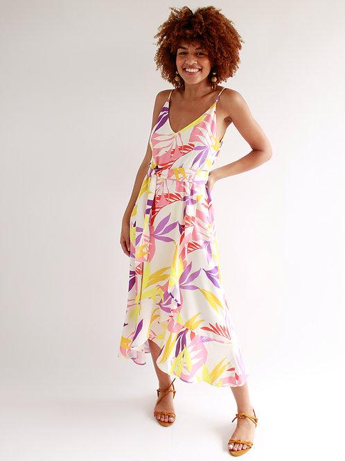 Vestido Midi Floral Color