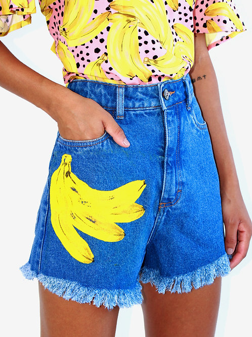 Short Jeans Silk Banana