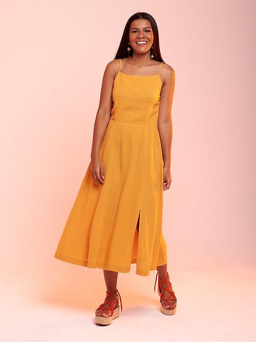 Vestido Midi Marieta Amarelo