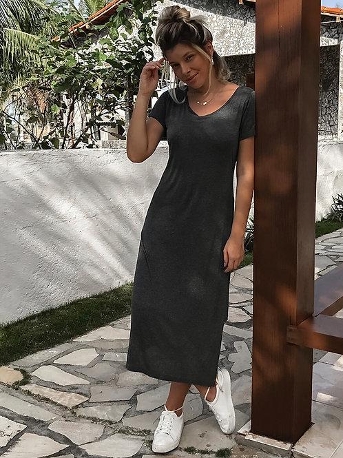 Vestido Nó Cinza