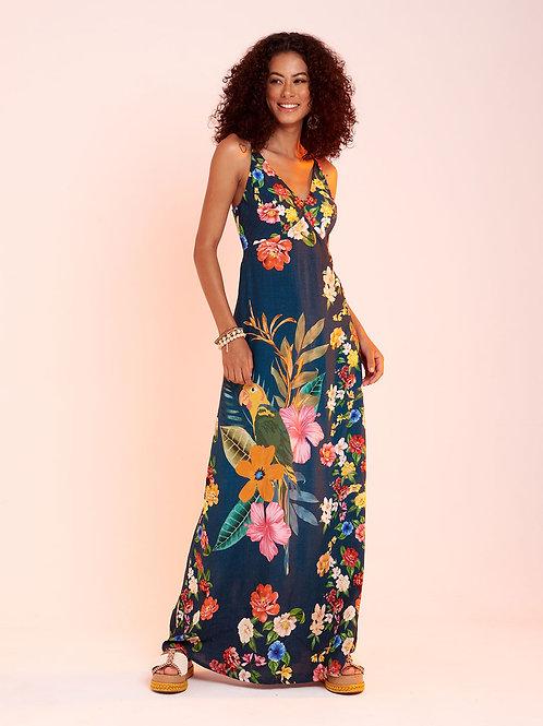 Vestido Longo Arara Flor