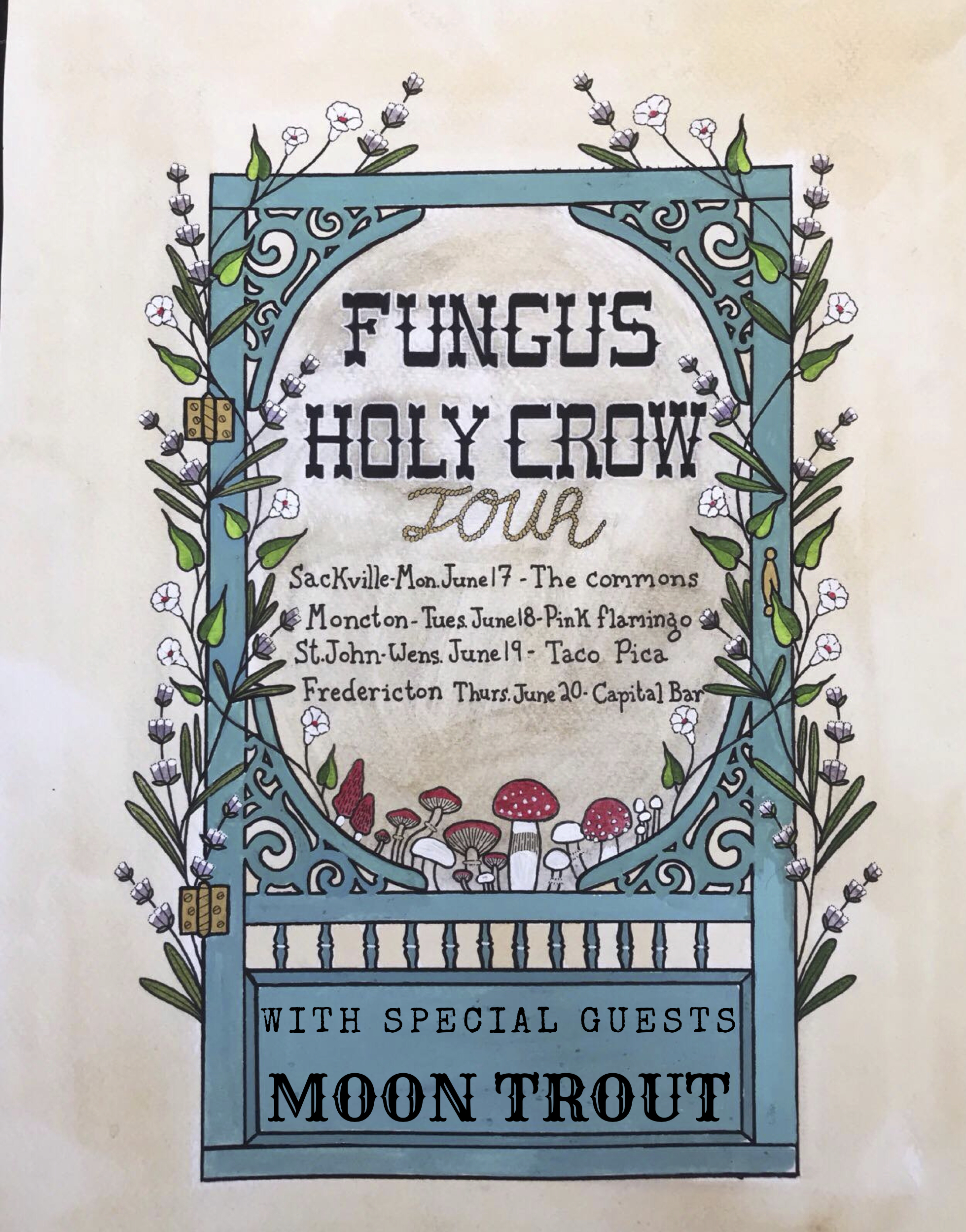 The Fungus and Holy Crow Screen Door Tour