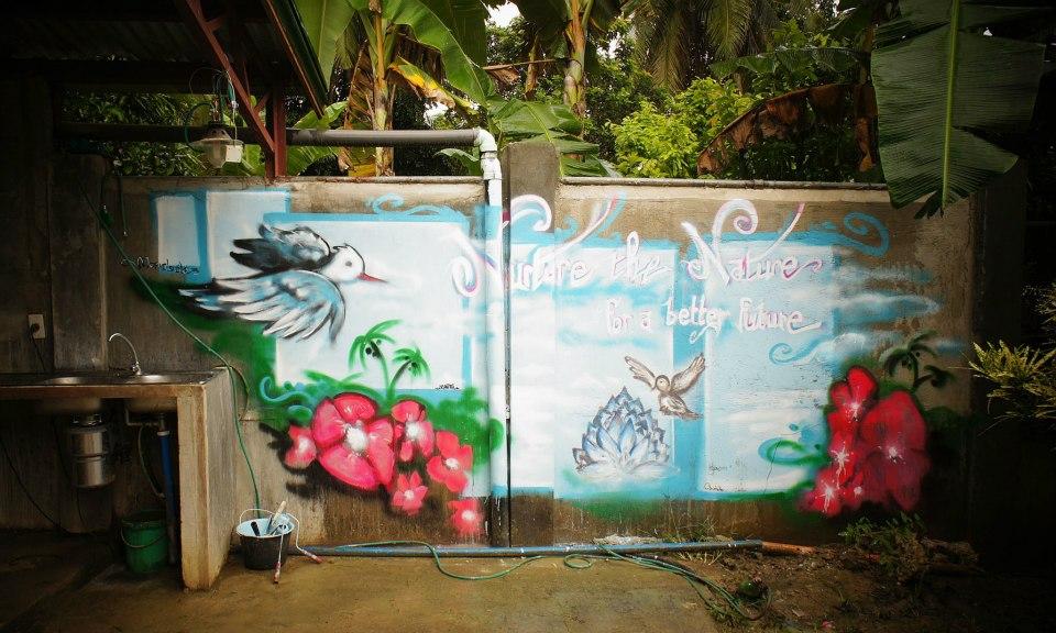 Fresque Mondoélé à Luzviminda