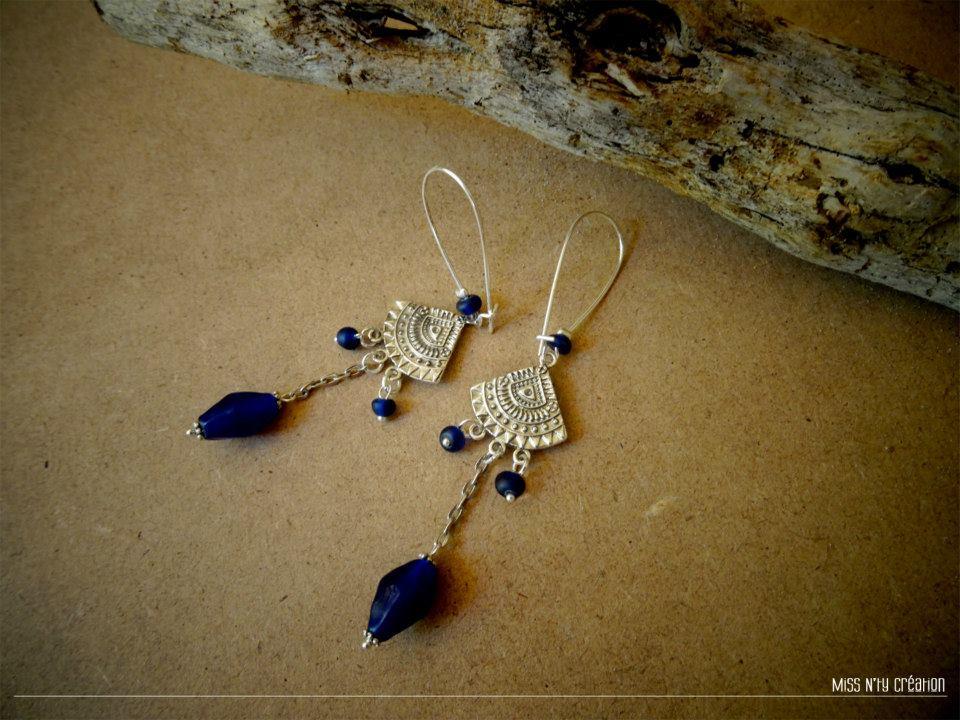 Boucles Ethnique Perles d'Indonésie