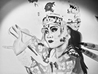 Watercolor Painting - Ayu in Péliatan-Bali
