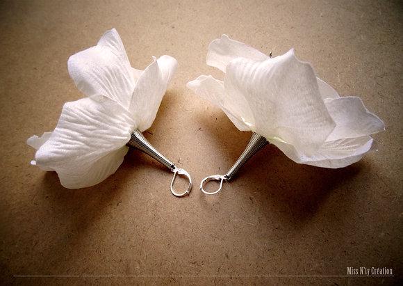 Boucles d'oreilles Pendantes en Tissus