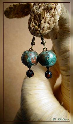 Boucles  pendantes & Perles du bout du Monde