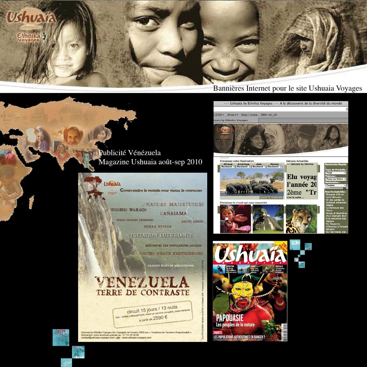 Création de brochure Ushuaïa Voyages