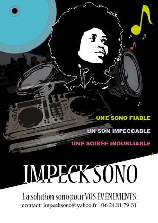 Confection de Flyer pour Impeck Sono