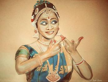 Watercolor Painting of Krithiga Ravichandran