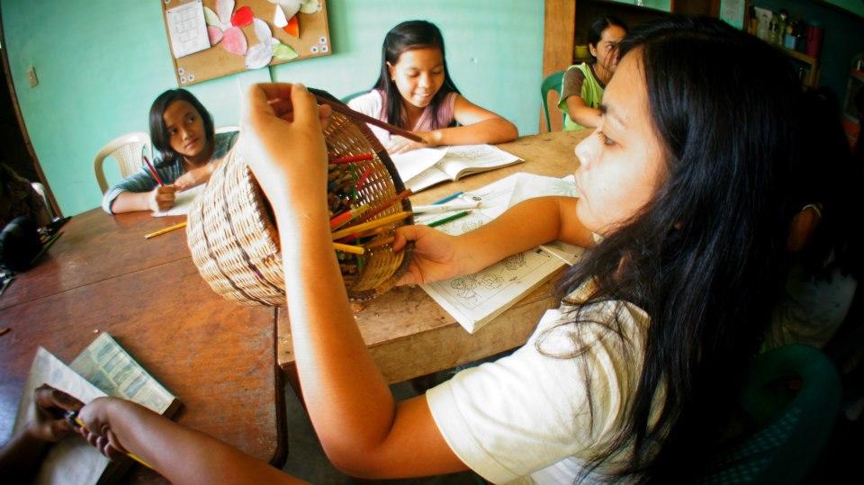 Atelier dessin à Luzviminda, Palawan