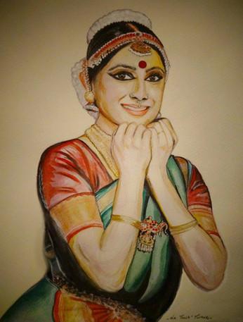 Watercolor Painting of Meenakshi Srinivasan