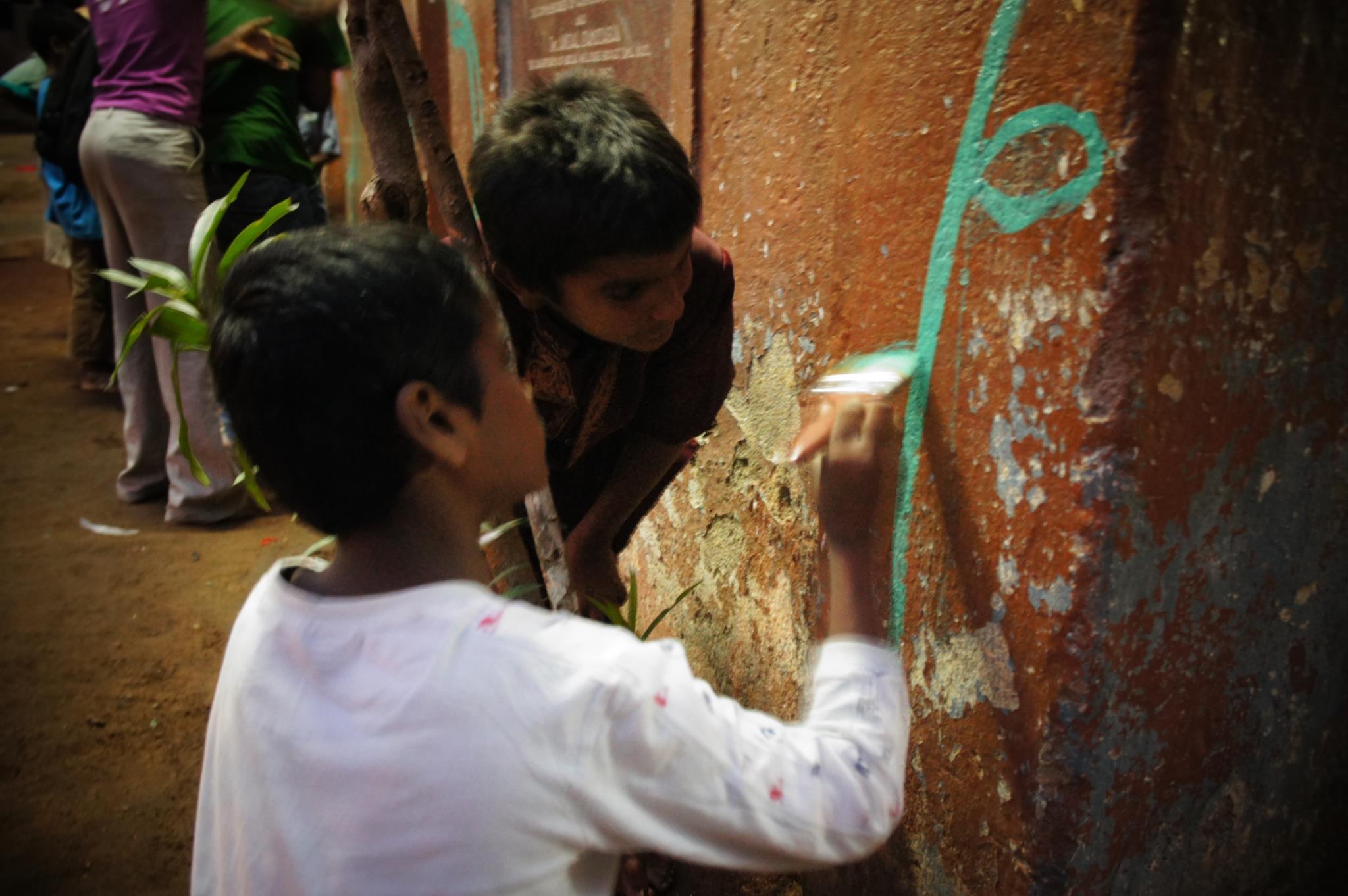 Atelier Fresque à DBAI, Chennai