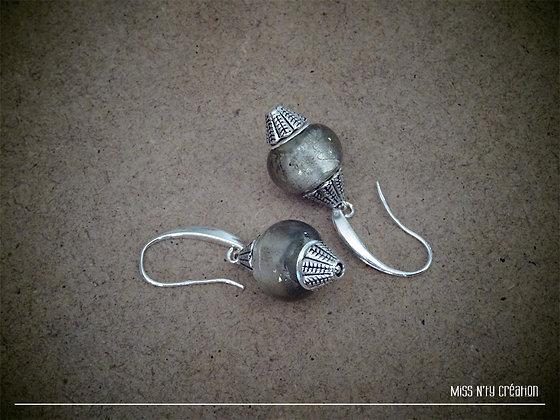 Boucles d'oreilles Ethniques & Perles de verre