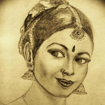Sketch de la danseuse/ actrice Shobana