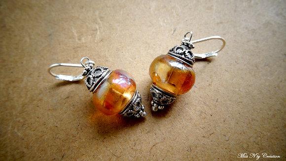 Boucles d'oreilles aux Perles de verre Lampwork