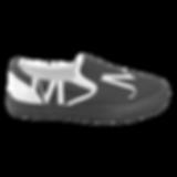 men's black and white JM Logo canvas sli