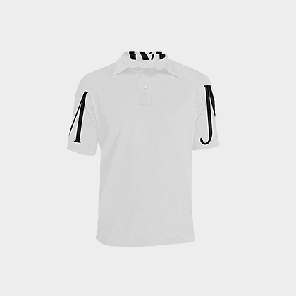 MEN'S SHORT SLEEVE JM POLO SHIRT // White & Black
