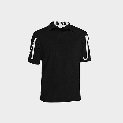 MEN'S SHORT SLEEVE JM POLO SHIRT // Black & White