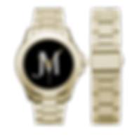 men's gold, black, and white JM Logo Gil