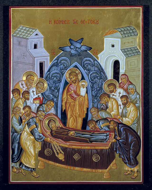 Icon of Dormition by Christopher Gosey