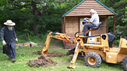 trenching for water and power pipes