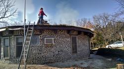 Spring roof burning