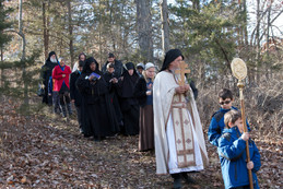 """Procession to our """"Lake Ladoga"""" to bless the water"""