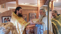 Fr. Makarije and Slava Bread