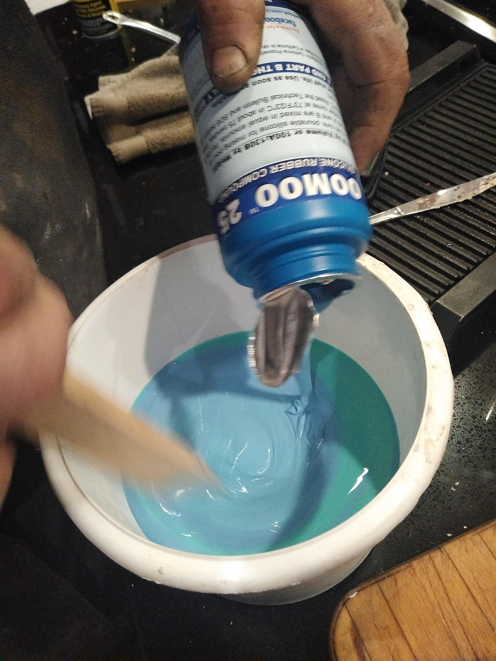 Homemade Sugar Glass Bottle Prop; Oomoo 25 rubber silicone Mould