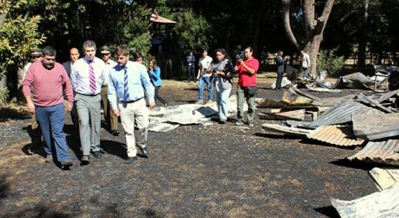 AHORA QUEMARON SANTUARIO Y CASA PARROQUIAL  EN CAMINO A VILCUN