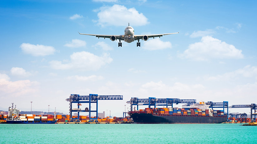 Container cargo freight ship with workin