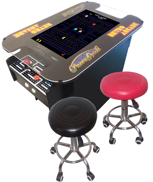 """XL Cocktail Arcade Machine With 412 Games, Huge 24"""" Screen,  2 Free Stools"""