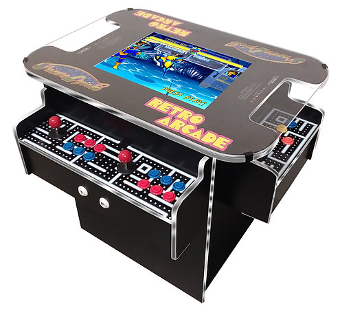 3 Sided Cocktail Arcade Machine With over 1,000 Games