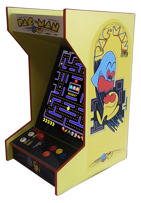 Tabletop Pac-Man Arcade Machine With 60 Games And Lit Marquee