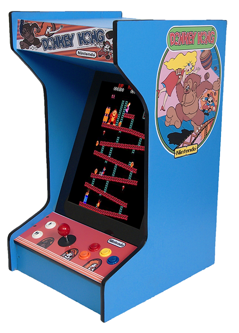 Tabletop Donkey Kong Arcade Machine With 60 Games And Lit Marquee