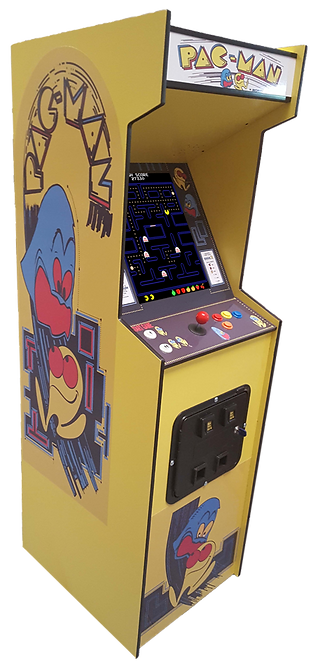 Full Size Pac-Man Arcade Machine With 412 Games