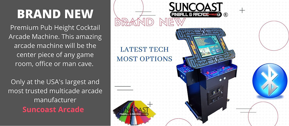 Suncoast Arcade Premium Pub height Cockt