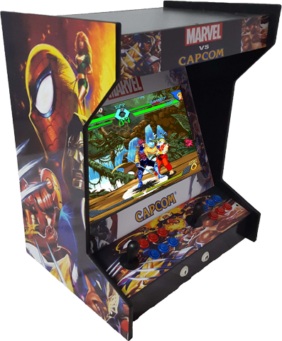 Tabletop Side by Side Arcade Machine With 750 Games And Lit Marquee