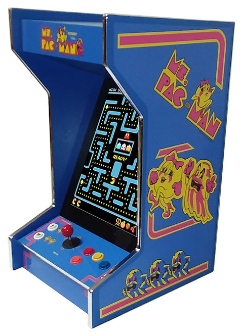 Tabletop Ms Pac-Man Arcade Machine With 60 Game And Lit Marquee