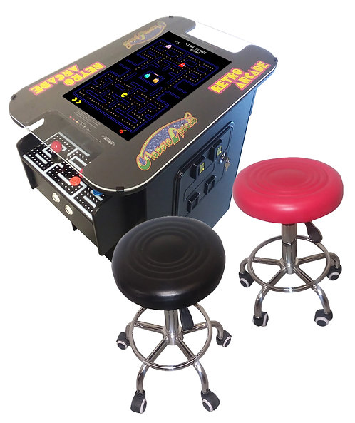 "Premium XL Cocktail Arcade Machine With 412 Games, Huge 24"" Screen,  2 Free Stoo"