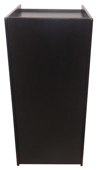 Black pedestal for tabletop arcade machines