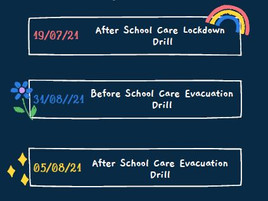 Emergency Drills Term 3 2021