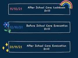 Term 4 2021 Emergency Drills - OSHC