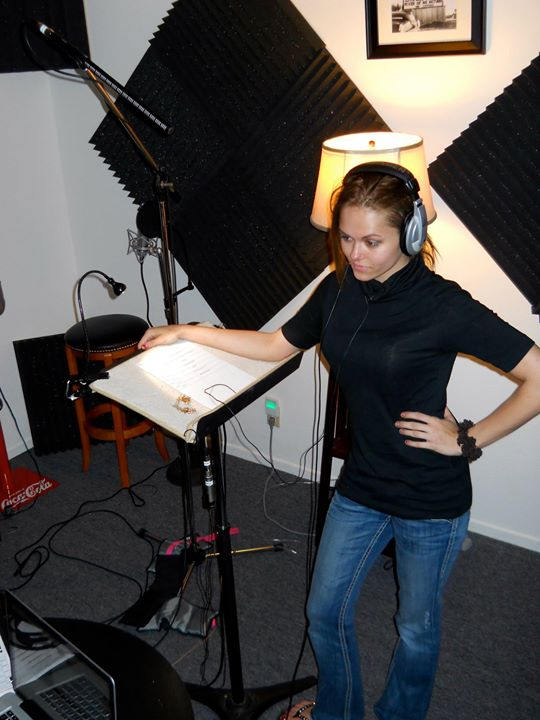 ADR session for Cheerleader_Angelina Armani