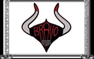 Logo Design for Bravo Drums