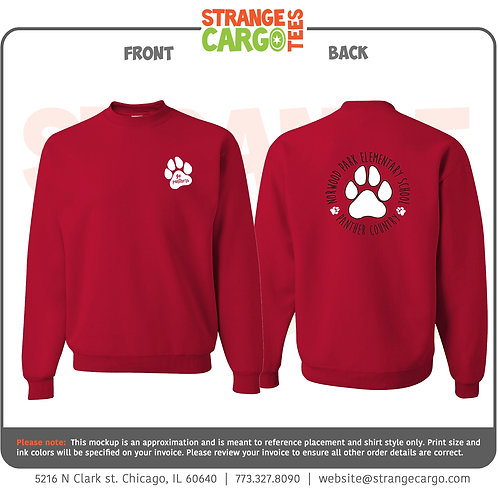 Crew Sweatshirt (Red or Gray)