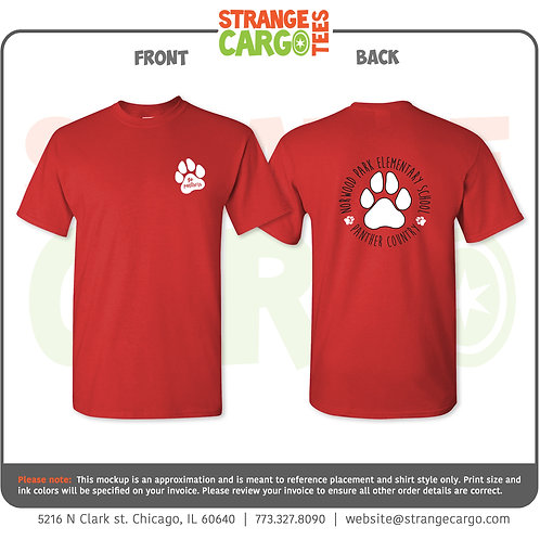 Short Sleeve T-Shirt (Gray or Red)